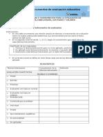 Diagnóstico Sobre Técnicas e Instrumentos de Evaluación