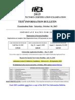 2015 Container Exam Bulletin