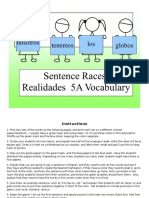 sp 1 - ch 5a - sentence race game vocabulary