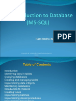An Introduction to Database (MS-SQL)