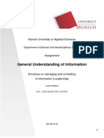 General Understanding of Information- Emotions on Managing and Controling of Information (Leadership) by Lukas Statkus