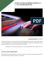 Controle Misto e Híbrido de Constitucionalidade Brasileiro e o Sistema Common Law – Por Danielle Mariel Heil _ Empório Do Direito