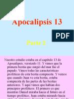 Apocalipsis 13 Parte 2,
