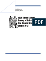 1996 Texas School Survey of Substance Use _ Published Version _ Grades 7 - 12