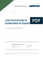 ¿Ha funcionado la austeridad en España?