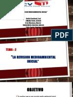 La Revision Medioambiental Inicial