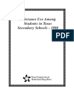 1988 Texas School Survey of Substance Use _ Published Version _ Grades 7 - 12