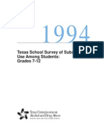 1994 Texas School Survey of Substance Use _ Published Version _ Grades 7 - 12