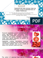 effect of temperature and drying time on some nutritional quality of drying tomatoes