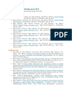 List of My Paper/Publication up to 2015