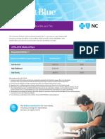 UNC Chapel Hill RA/TA Student Blue Rate Sheet 2015-2016