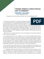 La Guerra Del Estado Islámico Contra Francia Aún No Empieza (Proceso 2037, 14nov2015)