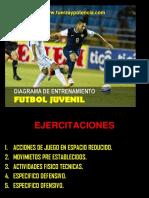 Diagrama de Entrenamiento de Futbol