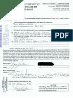 Trade Name Registration