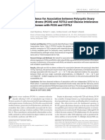 Biyasheva (2009)- Evidence for Association Between PCOS and TCF7L2 and Glucose Intolerance in Women With PCOS and TCF7L2