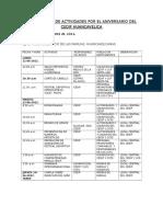 06 N° 5 ANIVERSARIO CEDIF - CRONOGRAMA DE ACTIVIDADES