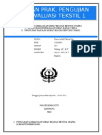 Laporan evaluasi tekstil