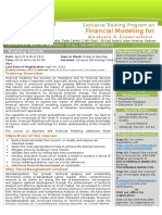 Financial Modeling for Analysis & Forcasting