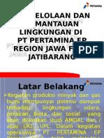 Pengelolaan Dan Pemantauan Lingkungan Di Pt Pertamina Ep Region Jawa Field Jatibarang