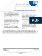 Armed Forces Tribunal- Bill Summary