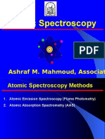 Atomic Absorption Spectroscopy and Atomic Emission Spectroscopy