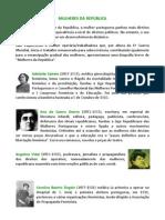 Mulheres da República / biografias breves