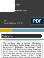 Struktur Kayu, Sambungan Baut