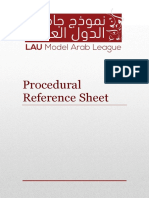 Procedural Reference Sheet