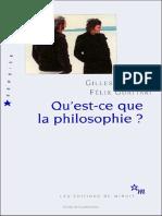 Qu Est Ce Que La Philosophie - Introduction