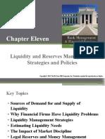 Liquidity and Reserve Management