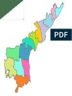 andhra pradesh outline map telugu-english