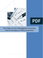 Cost and Management Accounting Practice in a Company