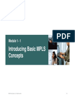MPLS Module 1 - Introduction