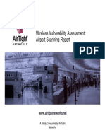 AirTight Airport WiFi Scan Analysis
