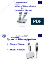 Calibration of Micro - Pipette