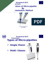 Calibration of Micro - Pipette
