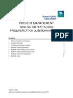 Project Management PQQ Part A