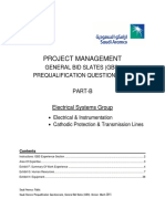 Project Management PQQ Part B - Electrical Systems Group