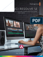 DaVinci Resolve 12 Beta Configuration Guide