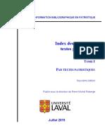 Index Editions Textes Patr I Textes[1]