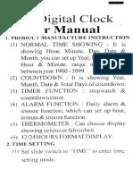 Ajanta Digital Clock - User Manual - Page 02