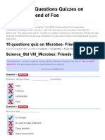 10 Objective Questions Quizzes on Microbes- Friend of Foe - Tenquestion