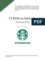 CUEGIS on Starbucks
