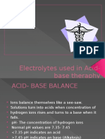 Electrolytes Used in Acid-base Theraphy