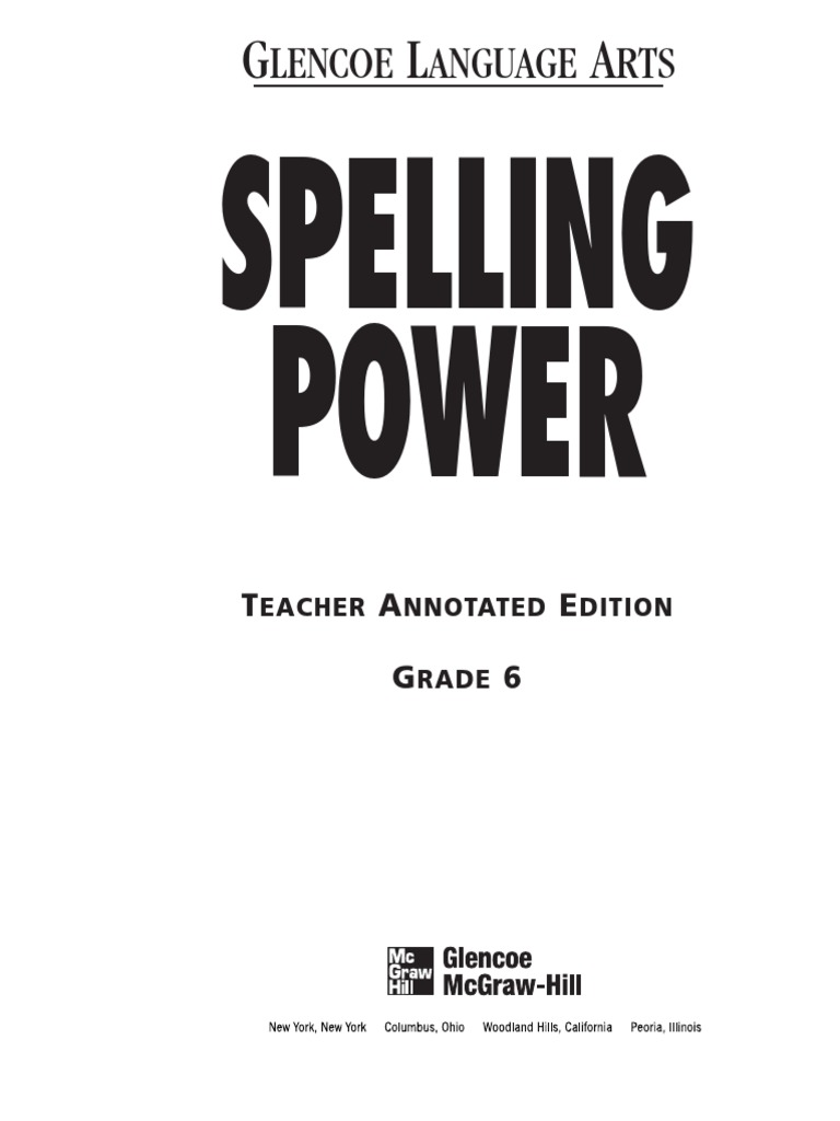 Worksheets Spelling Power Worksheets spelling power workbook teacher annotated edition the muppets