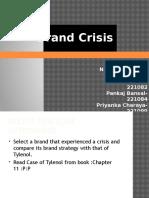 Brand Crisis Ppt