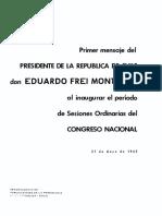 Mensaje Presidencial 1965