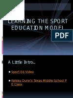 sport education model lecture 11 30 15