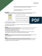 Excel Formats & Formula