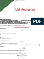 Advance Fluid Mechanics Lectures 7-8